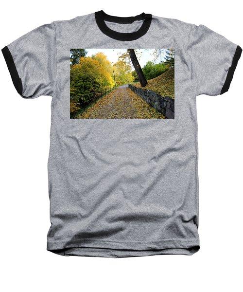 Yellow Autumn Baseball T-Shirt