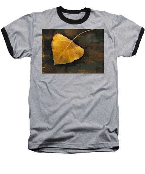 Yellow Autumn Leaf Baseball T-Shirt