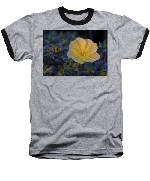 Baseball T-Shirt featuring the photograph Yellow Beach Evening Primrose by Marie Hicks