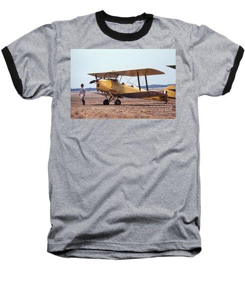 Yellow Bipe Baseball T-Shirt