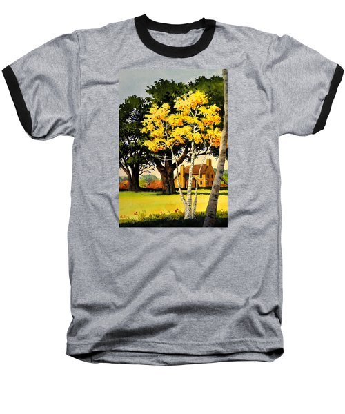 Yellow Birches Baseball T-Shirt