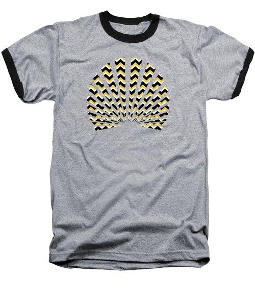 Yellow And Black Chevron Pattern Baseball T-Shirt