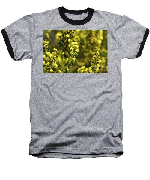 Yellow Blooms Baseball T-Shirt