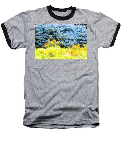 Yellow, Blue, Orange Baseball T-Shirt