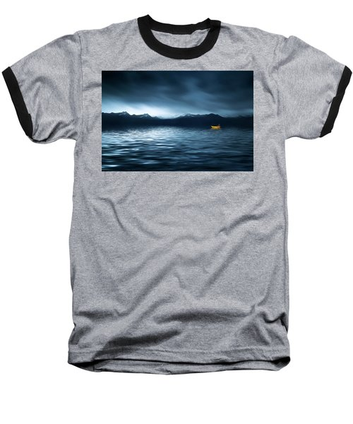 Baseball T-Shirt featuring the photograph Yellow Boat by Bess Hamiti