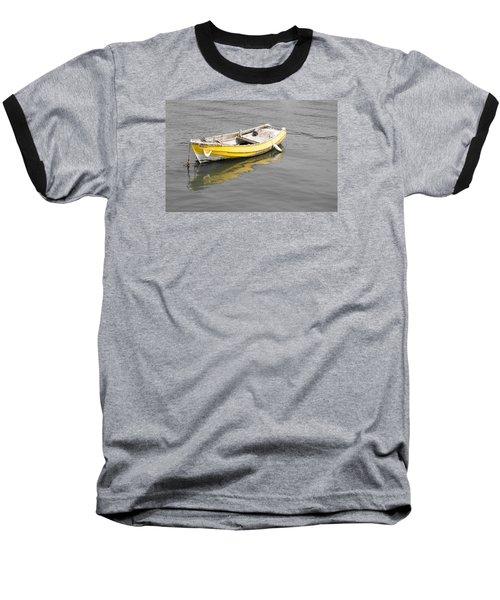 Yellow Boat Baseball T-Shirt by Helen Northcott