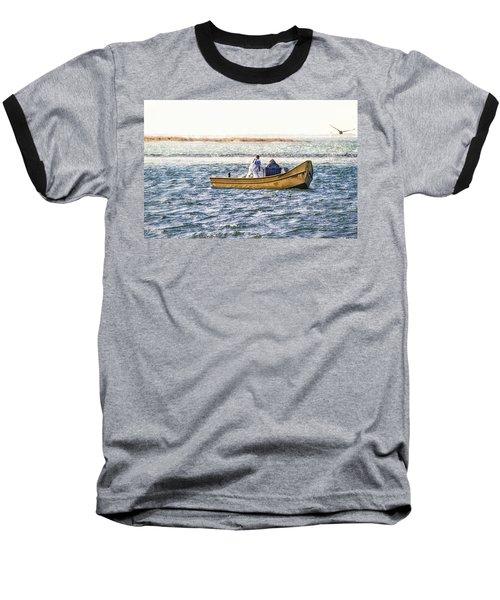 Yellow Boat - Baseball T-Shirt