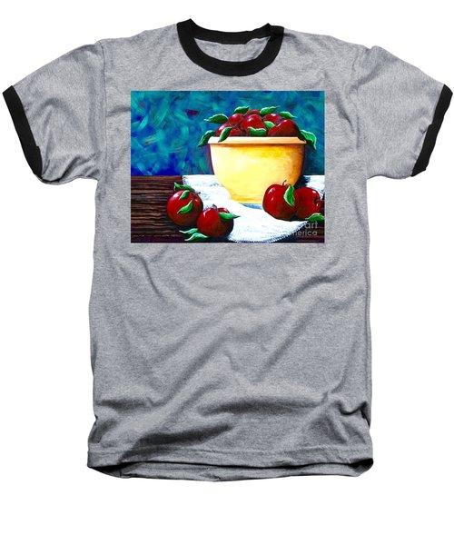 Yellow Bowl Of Apples Baseball T-Shirt