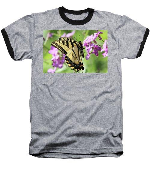 Yellow Butterfly Baseball T-Shirt