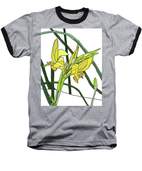 Yellow Canna Lilies Baseball T-Shirt by Jamie Downs
