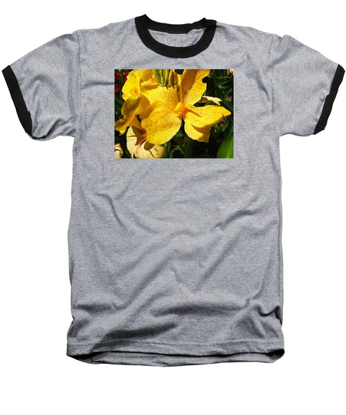 Baseball T-Shirt featuring the photograph Yellow Canna Lily by Shawna Rowe