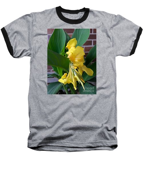 Yellow Canna Baseball T-Shirt