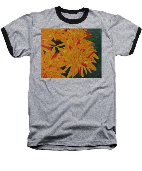 Yellow Chrysanthemums Baseball T-Shirt by Hilda and Jose Garrancho