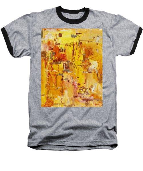 Yellow Conundrum Baseball T-Shirt