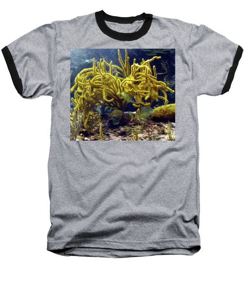 Baseball T-Shirt featuring the photograph Yellow Coral Dance by Francesca Mackenney