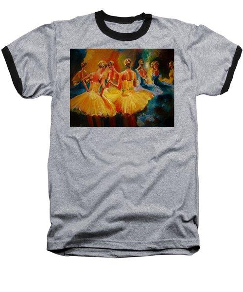 Yellow Costumes Baseball T-Shirt by Khalid Saeed