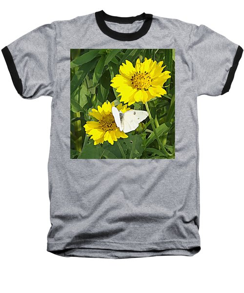 Yellow Cow Pen Daisies Baseball T-Shirt