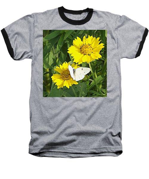 Yellow Cow Pen Daisies Baseball T-Shirt