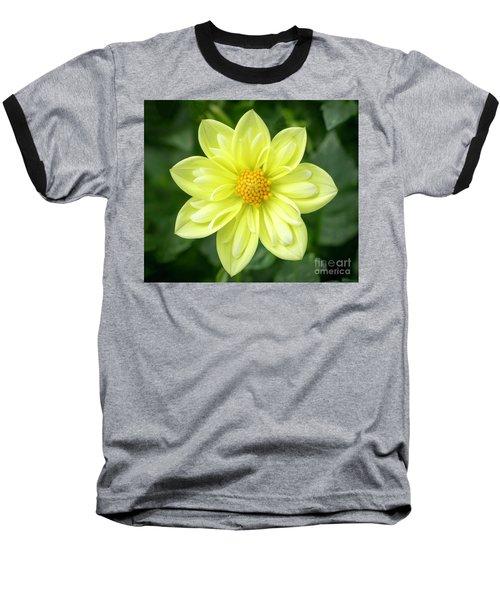 Yellow Dahlia Baseball T-Shirt