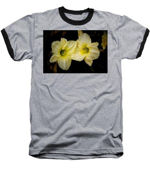 Yellow Day Lilies Baseball T-Shirt
