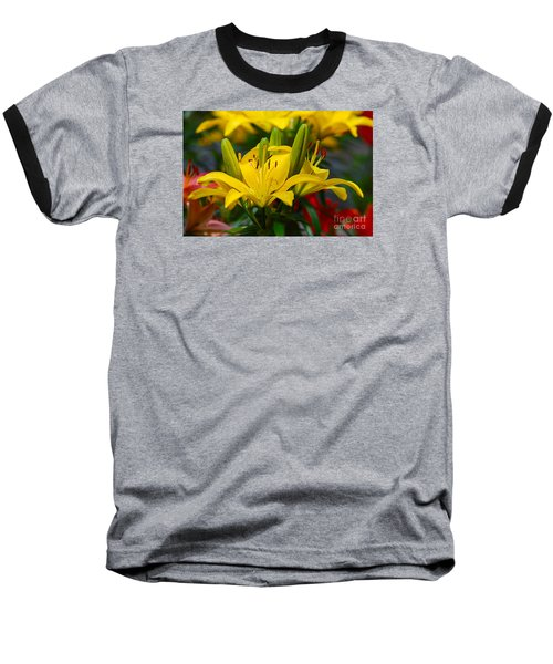 Baseball T-Shirt featuring the photograph Yellow Day Lily 20120614_55a by Tina Hopkins
