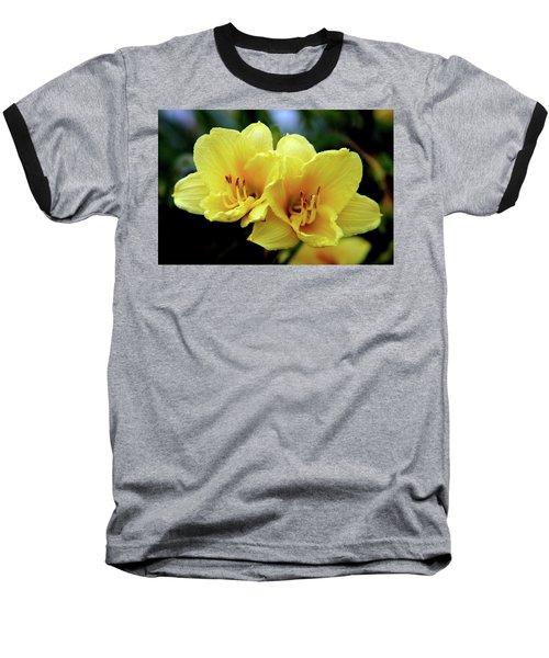 Yellow Daylilly 0204 H_2 Baseball T-Shirt