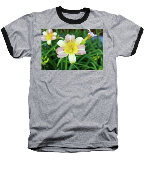 Yellow Daylily Baseball T-Shirt
