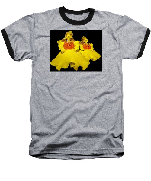 Baseball T-Shirt featuring the photograph Yellow Dresses by Judy Vincent