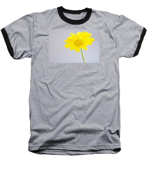Yellow Drops Baseball T-Shirt by Shelly Gunderson