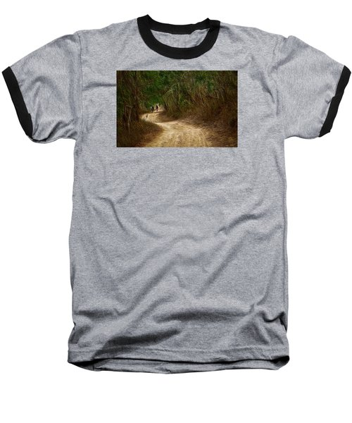 Baseball T-Shirt featuring the photograph Yellow Dust Road by Cameron Wood