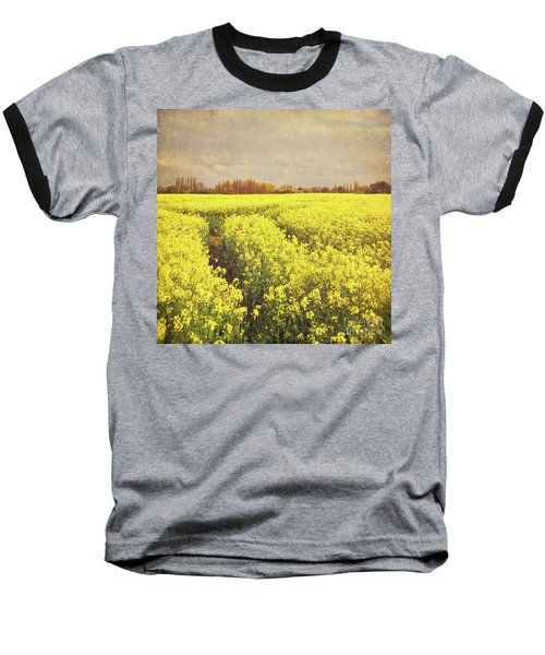 Yellow Field Baseball T-Shirt by Lyn Randle