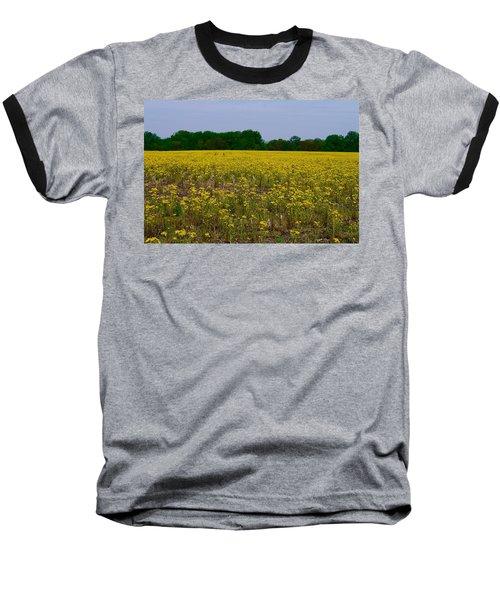 Yellow Field Baseball T-Shirt by Tim Good