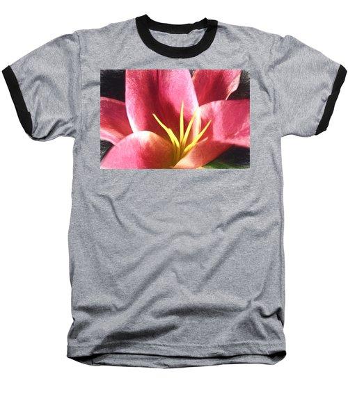 Yellow Fingers, Pink Blush Baseball T-Shirt
