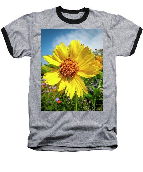 Yellow Flower Baseball T-Shirt