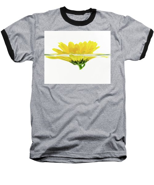 Yellow Flower Floating In Water Baseball T-Shirt