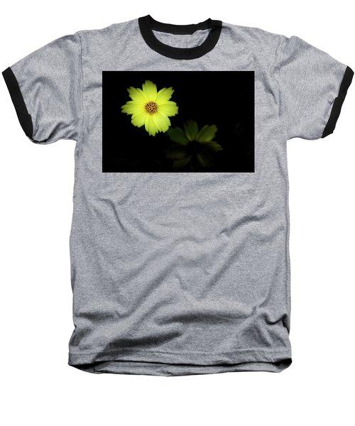 Yellow Flower Baseball T-Shirt by Jay Stockhaus