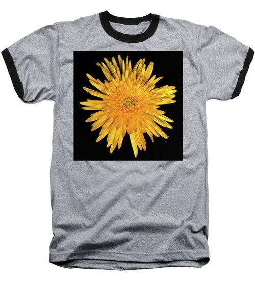 Yellow Flower Macro Baseball T-Shirt