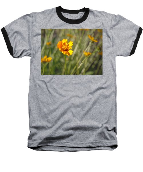 Yellow Flower Baseball T-Shirt