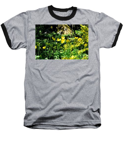 Yellow Flowers Bathing In The Sun Baseball T-Shirt by Tanya Searcy