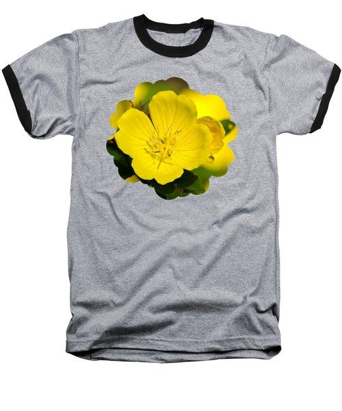 Yellow Flowers - Evening Primrose Baseball T-Shirt by Christina Rollo