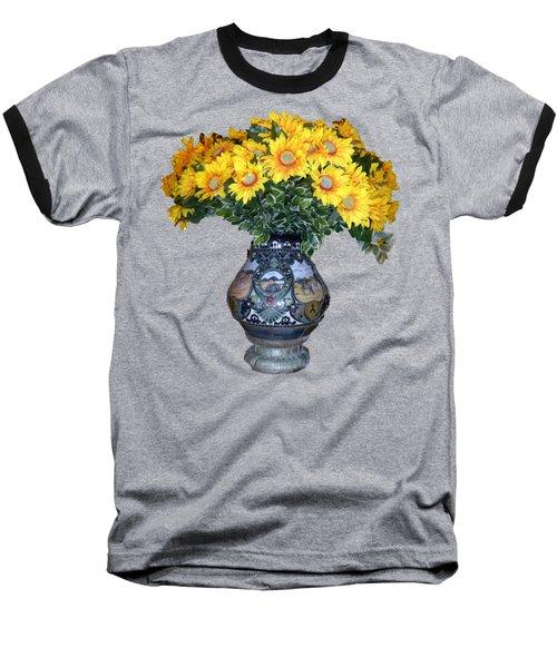Yellow Flowers In Vase Baseball T-Shirt