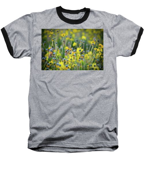 Baseball T-Shirt featuring the photograph Yellow Flowers by Kelly Wade