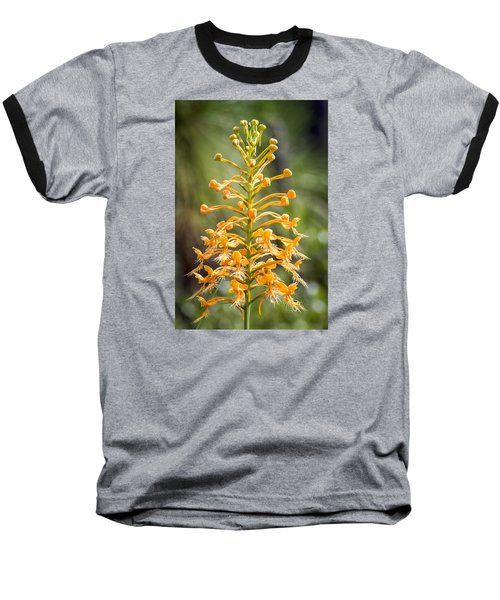 Baseball T-Shirt featuring the photograph Yellow Fringed Orchid by Bob Decker