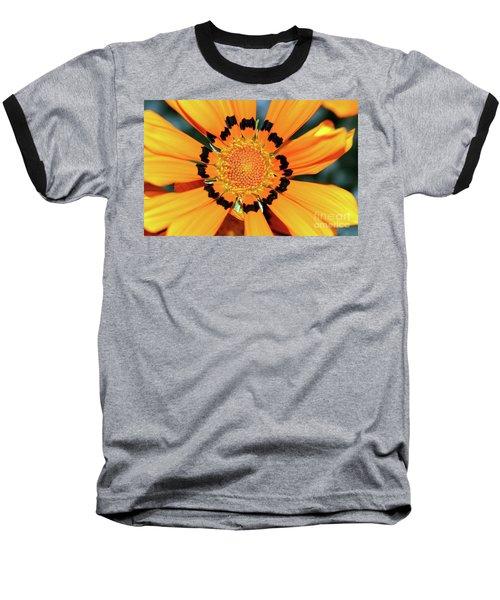 Baseball T-Shirt featuring the photograph Yellow Gazania By Kaye Menner by Kaye Menner