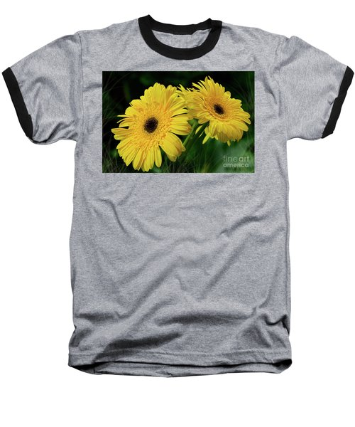 Baseball T-Shirt featuring the photograph Yellow Gerbera Daisies By Kaye Menner by Kaye Menner