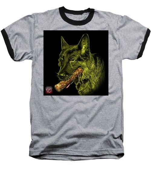 Yellow German Shepherd And Toy - 0745 F Baseball T-Shirt