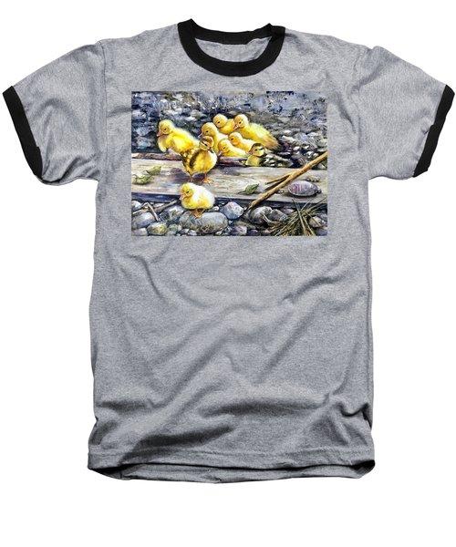 Yellow Happiness Baseball T-Shirt