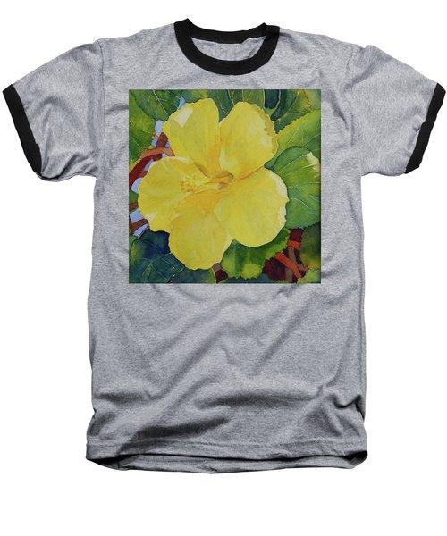 Yellow Hibiscus Baseball T-Shirt