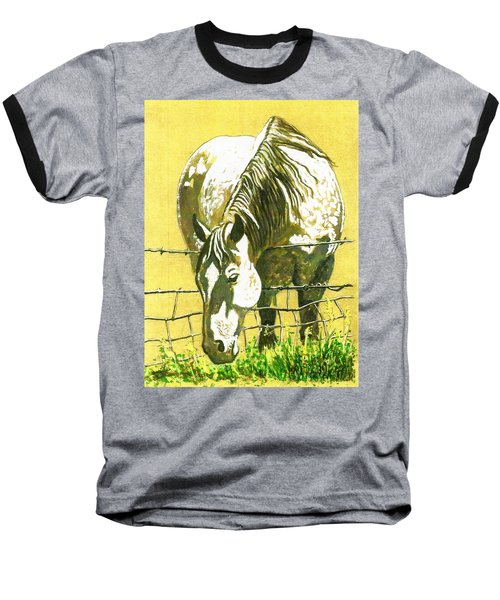 Yellow Horse Baseball T-Shirt