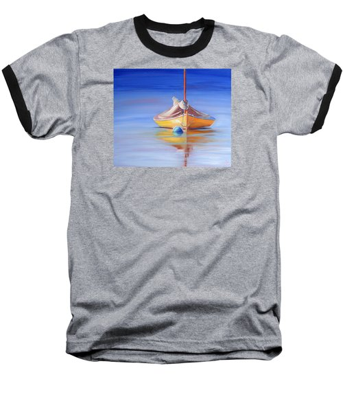 Yellow Hull Sailboat Iv Baseball T-Shirt